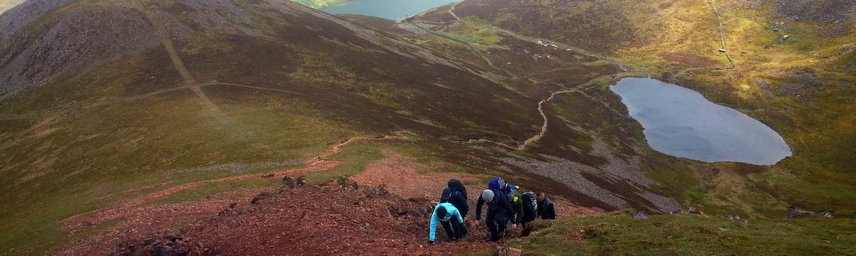 Climbing Red Pike from Bleaberry Tarn