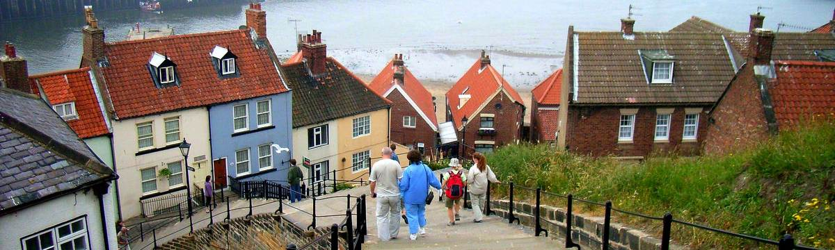 100 steps down to Whitby on the Cleveland Way