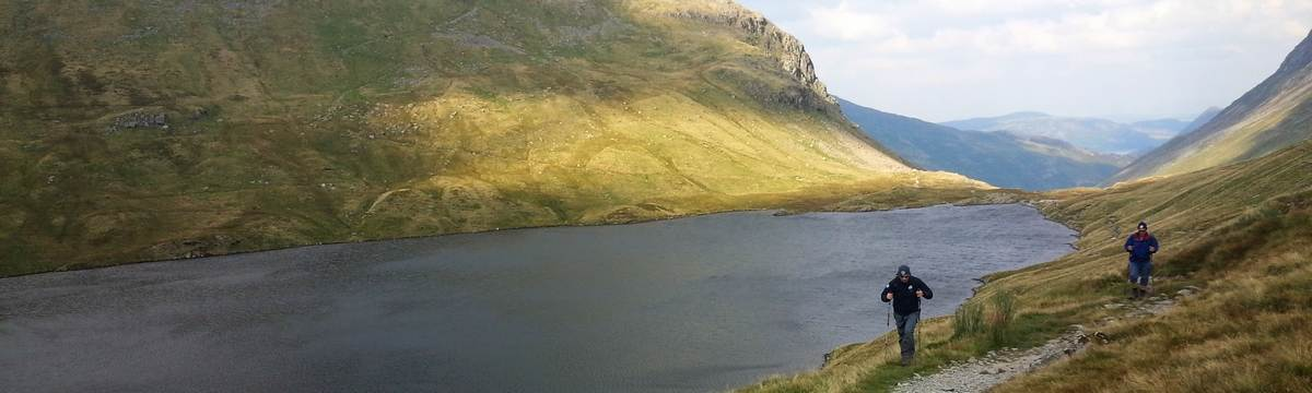 Passing Grisedale Tarn on leg 2 of the Bob Graham