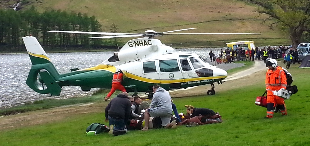 Air ambulance in action