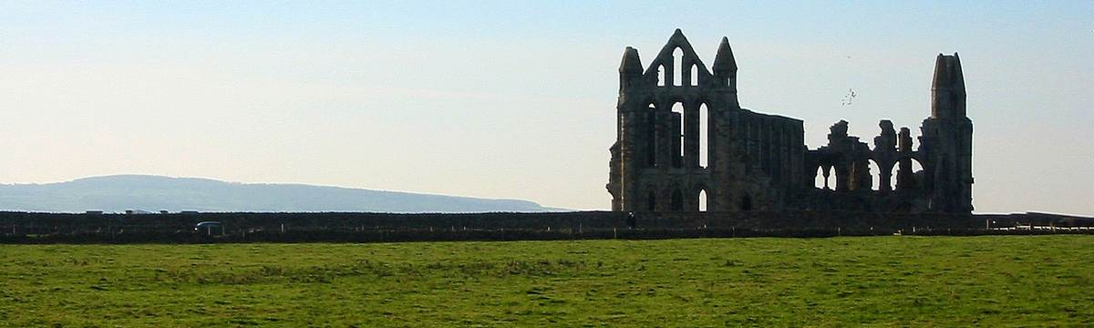 Whitby Abbey on the Coast to Coast path
