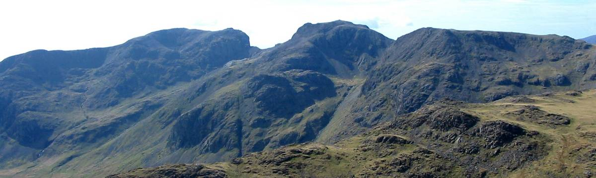 Scafell Pike from Bowfell