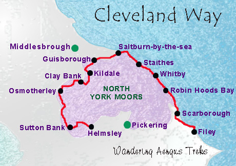 Cleveland Way map