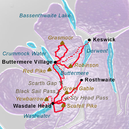 Lake District West map