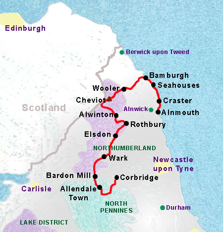 Reivers Way self guided walking holidays