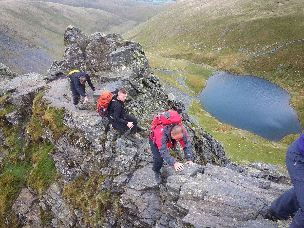 Tackling Sharp Edge on Blencathra in the Lake District